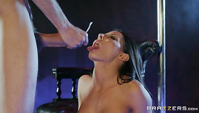 Madison Ivy swallows like a pro after merciless sex at the strip club