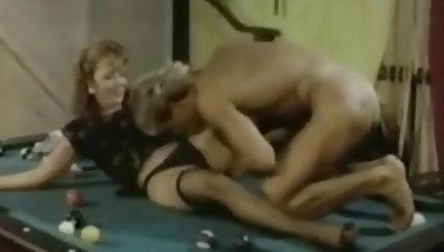 couple test out their new pool table .nice retro clip