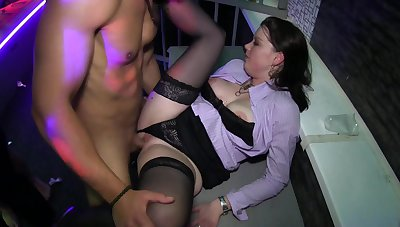 Naughty orgy porn during upper floor hard sex play