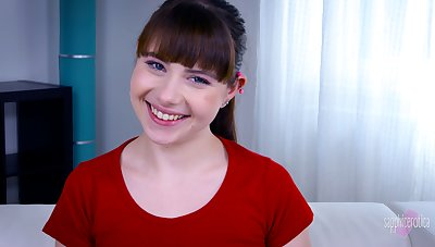 Odd French Luna Rival is always ready to work on cam with her cute smile