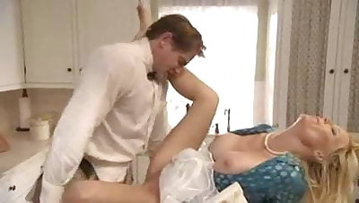 Smutty deck-hand makes love with blonde mature old bag
