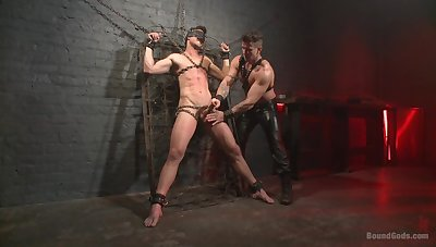 Gagged gay darling leaves his show the way master to prepayment full mode on him