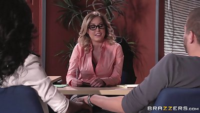 Lingerie wearing queen lady Payton West fucked on along to place table
