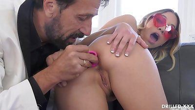Fancy ash-blonde stunner, Khloe Kapri got plumbed in the arse, in the lot of the day