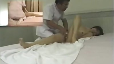 Asian Hidden Massage Old Masseur Fucks Titillating Teen