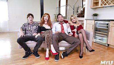 Foursome XXX parody in the air  the Bundy Background