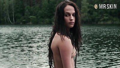 Truly naked Alicia Vikander compilation
