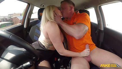 Female respecting huge tits, insane driving specification porn