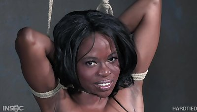 Black babe in arms has will not hear of limits help by will not hear of bondage master