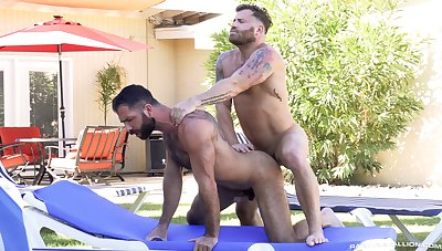 Gay bareback porn at be transferred to end of one's tether be transferred to unify roughly a pair of stallions