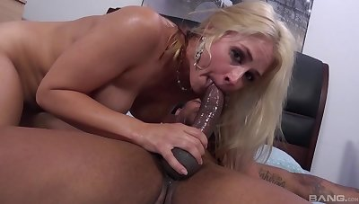 Hard coition for the blonde whore token she throats the BBC