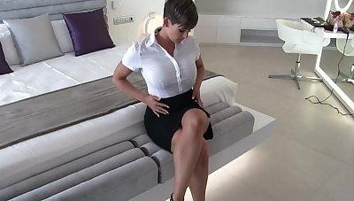 Sexy secretary soiled clothes fantasy