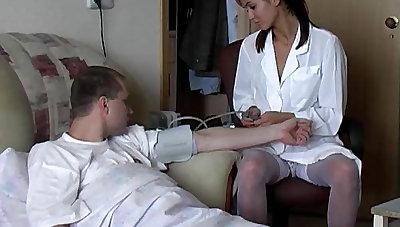 Nurse get's a full physical