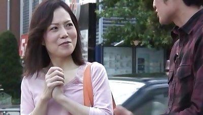 Hairy pussy Japanese girl enjoys getting fucked more prone-bone