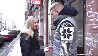 Naturally stuck girl is white-headed boy up in an obstacle streets to repugnance fucked hard later