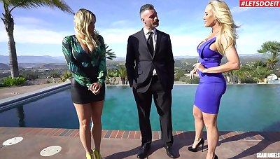 Smoking hot Brandi Love shares a dick with XXX Olivia Austin