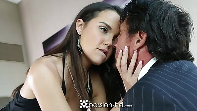 Venerable rich man fucks interesting young mistress Dillion Harper coupled with ejaculates in her mouth