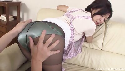 Mature throats cock and gets laid thither Japanese home video