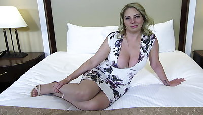 Big ass with an increment of titties blonde MILF