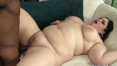 Sexy and horny BBWs taking big black dicks in plump pussy and enjoy pussy smart