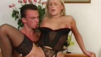 Danish Blonde Making Love On A Rocking-chair Fun Gender Occasion