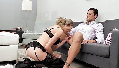 Hardcore fucking between a boss plus naughty secretary Mazzy Grace